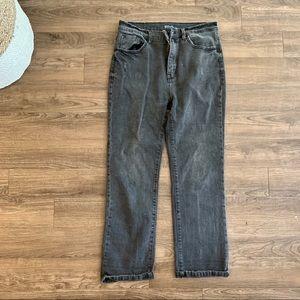 Dark Gray mom jeans
